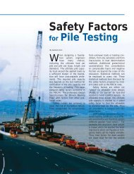 Safety Factors - Pile Driving Contractors Association