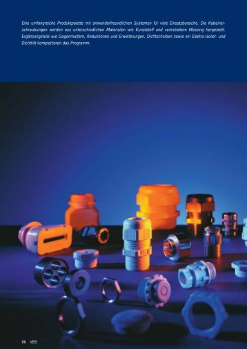 PDF Datei: Broschüre / OBO / Katalog VBS Kabelverschraubungen