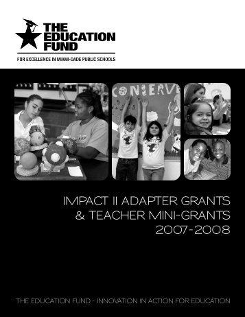 2007-2008 Teacher Mini-Grants Award Booklet - The Education Fund