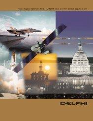 Fiber Optic Termini MIL-T-29504 and Commercial Equivalent - Delphi