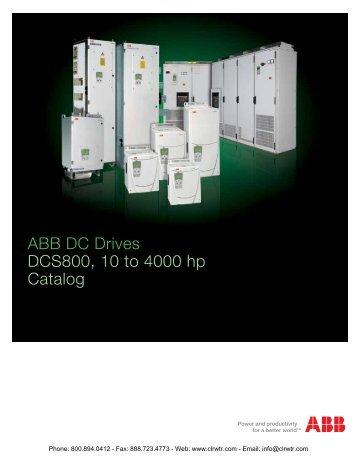 ABB DCS800 Industrial DC Drives Catalog