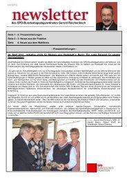 Newsletter aus Berlin Nr. 07/2012 - Gerold Reichenbach