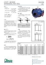 2.5.10-X G3FM型三通控制阀球墨铸铁制成,DN80 ... - Clorius Controls