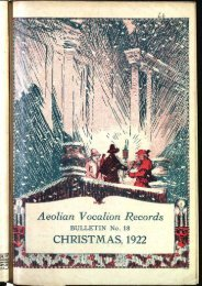 Aeolian-Vocalion Records, Christmas 1922 - British Library - Sounds