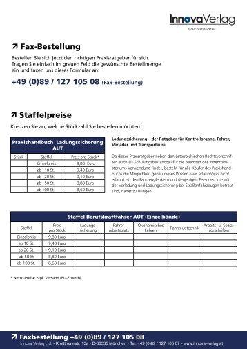 Fax-Bestellung +49 (0)89 / 127 105 08 (Fax ... - Innova - Verlag