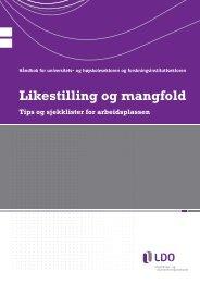 og høyskolesektoren og forskningsinstituttsektoren (PDF)