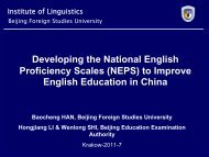 Developing the National English Proficiency Scales (NEPS ... - ALTE