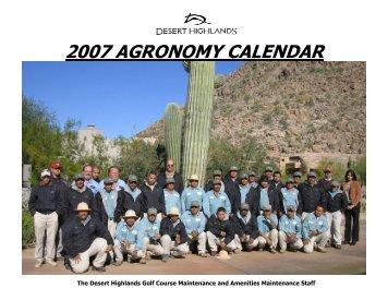 2007 Agronomy Calendar - Desert Highlands