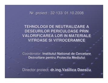 tehnologii de neutralizare a deseurilor periculoase - Prezentare