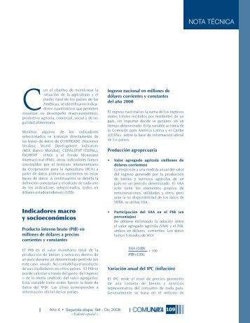 NotA técNicA - Instituto Interamericano de Cooperación para la ...