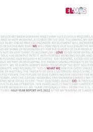 ELMOS Half-Year Report 2012
