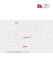 ELMOS Halbjahresbericht 2012