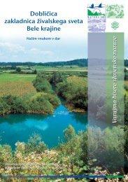 Dobličica, zakladnica živalskega sveta Bele krajine ... - Natura 2000