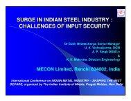 surge in indian steel industry : challenges of input security - IIM