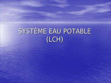 SYSTÈME EAU POTABLE