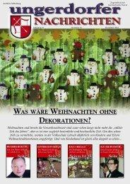 was wäre weihnachten ohne dekorationen? - Gemeinde Ungerdorf