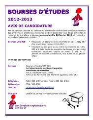 formulaire bourses 2012 ues800 - Union des employés et ...