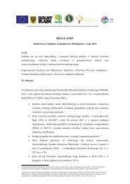 Regulamin konkursu - Dolnośląski Ośrodek Doradztwa Rolniczego ...