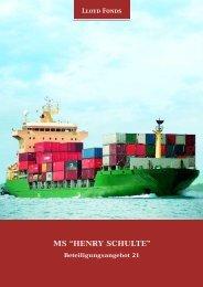 "ms ""henry schulte"" - Lloyd Fonds AG"