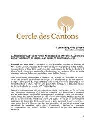 La première pelletée de terre, au Cercle des Cantons, inaugure un ...