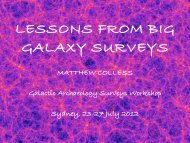 Lessons from big galaxy surveys - Physics and Astronomy
