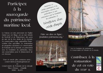 Participez à la sauvegarde du patrimoine maritime local. - Le ...