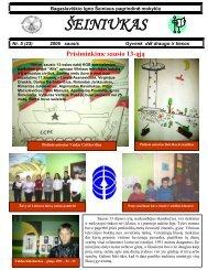 2006-01, Nr.23 - Bagaslaviškio Igno Šeiniaus pagrindinė mokykla