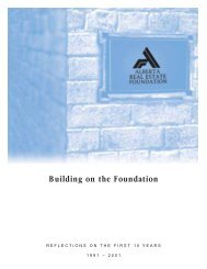 building on the foundation 2001 - Alberta Real Estate Foundation