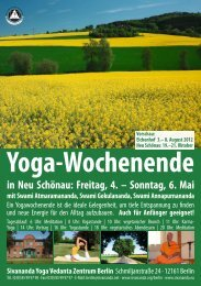 Yoga-Wochenende in Neu Schönau: Freitag, 4. - Sivananda Yoga