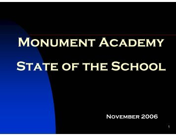 Monument Academy State of the School