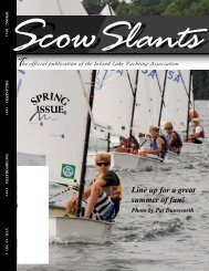 Line up for a great summer of fun! - Inland Lake Yachting Association