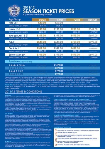 2011/12 season ticket prices - yourqpr.co.uk