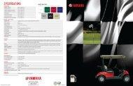 Brochure - Gas - Yamaha Golf Cars USA