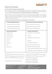 Checkliste für SEi Projekte - isocal HeizKühlsysteme GmbH