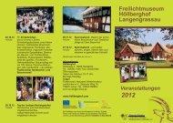 Veranstaltungen 2012 Freilichtmuseum Höllberghof Langengrassau