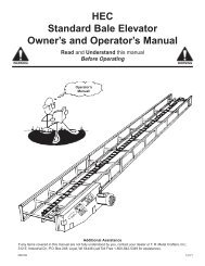 Hay Bale Elevator Manual - Ag Equipment USA
