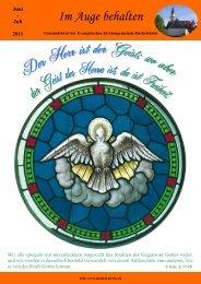 Juni - Juli 2011 - Evangelischen Kirchengemeinden Maintal