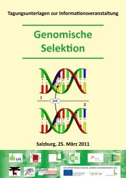 Genomische Selektion - Arbeitsgemeinschaft österreichischer ...