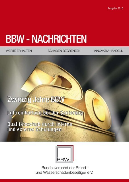 BBW Zeitung 2010 - Ralf Liesner Bautrocknung GmbH & Co. KG
