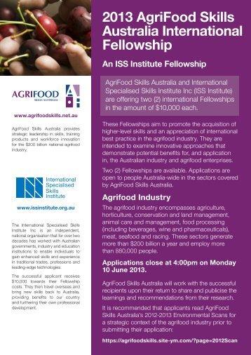 2013 AgriFood Skills Australia International Fellowship