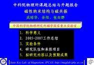 3 - 磁学国家重点实验室 - 中国科学院物理研究所