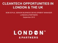 cleantech opportunities in london & the uk