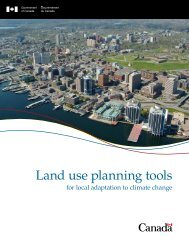 Land use planning tools for local adaptation to climate change