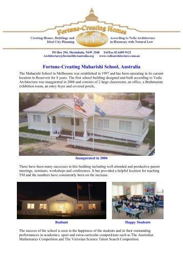 Maharishi School, Melbourne - Vedic Architecture