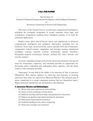 CALL FOR PAPERS CALL FOR PAPERS Special issue of Journal of ...