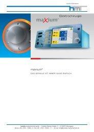 Elektrochirurgie maxium® - Handke Medizintechnik