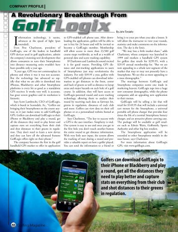 A Revolutionary Breakthrough From - GolfLogix