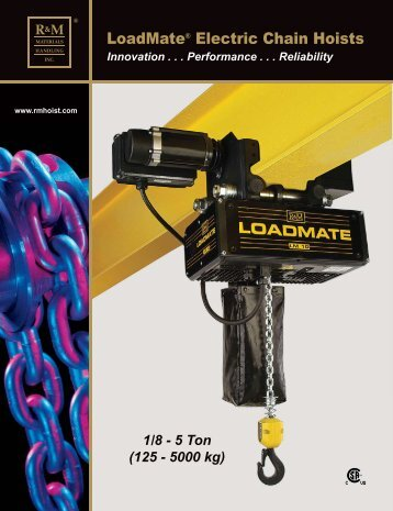 LoadMate® hoists - R&M Materials Handling equipment