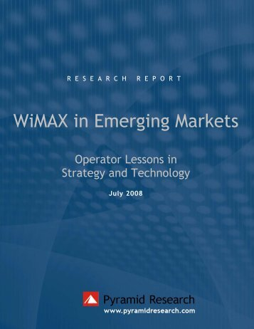 WiMAX in Emerging Markets