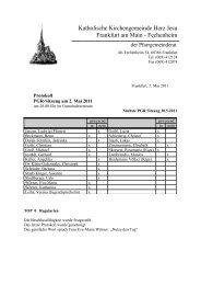 Protokoll der PGR-Sitzung am 2.Mai 2011 - Herz Jesu Fechenheim